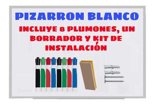 Imagen 1 de 5 de Pintarron Blanco 90x60 De Calidad Marcos De Aluminio Plumon8