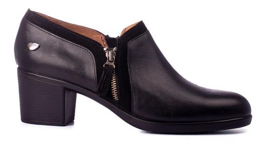Zapatos Mujer De Vestir Cavatini Taco Bajo Cuero Vacuno Pie Delicado