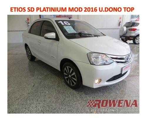 Imagem 1 de 14 de Etios Sedan Platinium 1.5 Mod 2016 Unico Dono Top De Linha