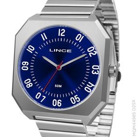 Relógio Lince Masculino Prata Aço Mqm4498s