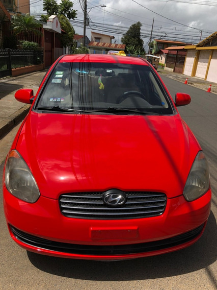 Hyundai Accent 2008 Color Rojo, 4 Puertas, Manual 5 Veloc