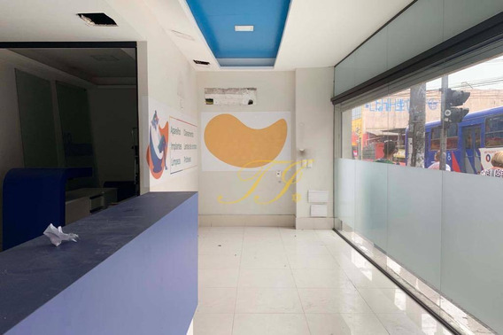 Salão Para Alugar, 182 M² Por R$ 9.000/mês - Centro - Guarulhos/sp - Sl0037
