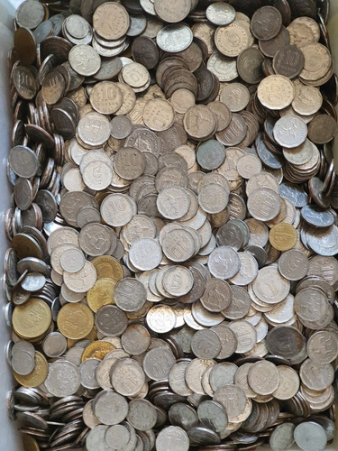 Ch C / Lote X100 Monedas Argentinas Enchapadas 1950-1981