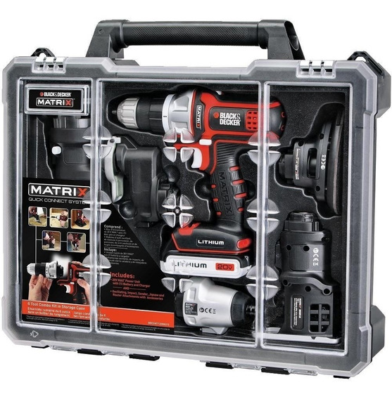 Taladro Matrix Kit 6 En 1 Multi Herramienta 20v Black+decker