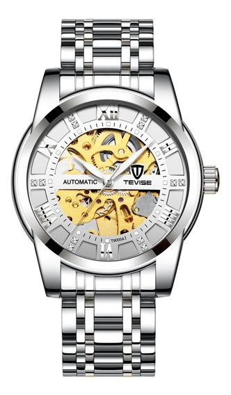 Reloj Tevise T9005a Hombres De Acero Inoxidable Impermeable