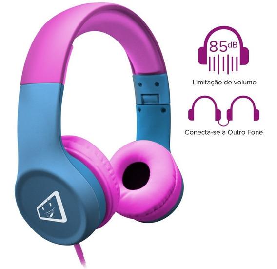 Headphone Infantil Estéreo Com Limitador De Volume Função Audio Splitter Melody, Podendo Conectar Outro Fone Nele Elg