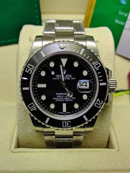 Relógio Rolex Submariner Preto Vdr. Safira - Promoção