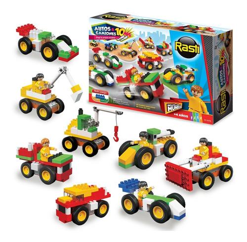 Rasti Autos & Camiones 15 - Bloques 100 Piezas - Juegos