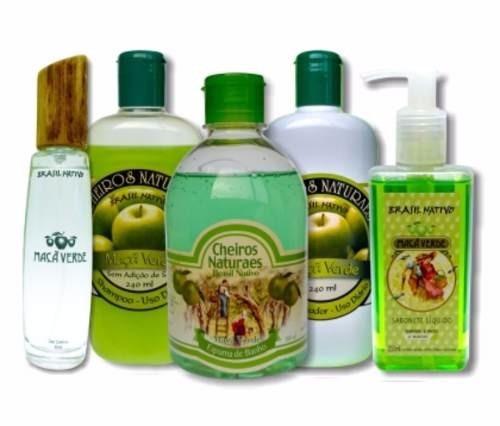 Set De Banho Maçã Verde Da Perfumaria Brasil Nativo