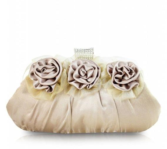 Bolsa De Festa Três Flores Aht38051 - Jacki Design