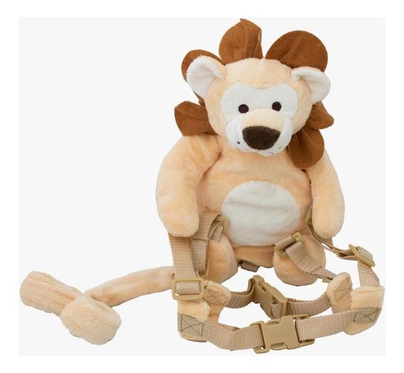 Mochila Guia De Segurança Crianças Pelúcia Infantil Leão