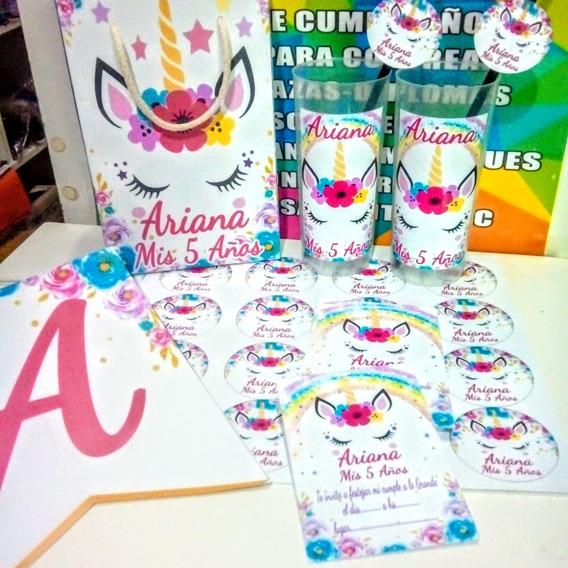 Promo Cotillón Unicornio Personalizado Para 40 Niños