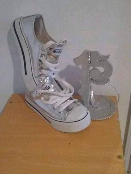 Zapatillas Plateadas N°35/6