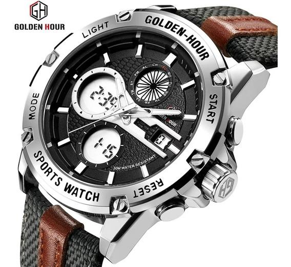 Relógio Goldenhour Esportivo Multifuncional Pronta Entrega !