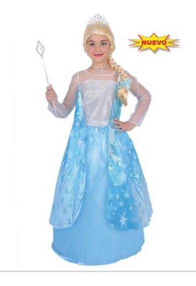 Disfraz De Princesa Elsa Frozen Carnavalito Para Niñas