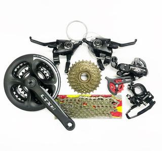 Kit 21 Marchas Bicicleta Com Pedivela 24/34/42 Completo 6 Pç