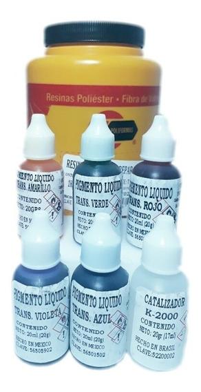 Resina Cristal Con Catalizador Y 5 Colores Para Encapsulados