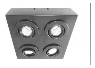 Plafón Spot Aplique Techo 4 Luces Cardanico Gu10 Led Hotsale