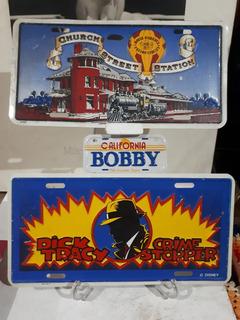 03 Antigas Placas Comemorativas Disney Estado De Novas Raras