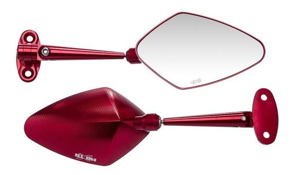 Espelho Retrovisor Aluminio Moto X Par Hon-cbr250r
