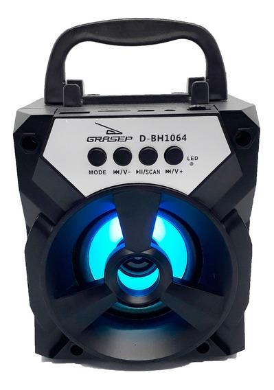 Caixa De Som Portátil Bluetooth Radio Fm Usb Pronta Entrega