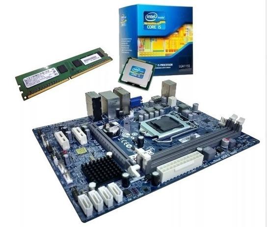 Kit Core I5 3470 C/ Cooler + Placa Mãe Hdmi + Memória 8gb