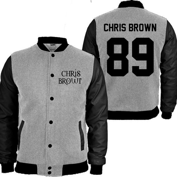 Casaco Moletom Chris Brown College Blusa Moleton Mod 1