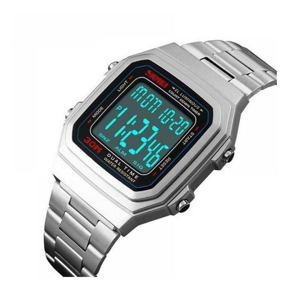 Relógio Skmei Led Original Esportivo Militar Luxo Promoção