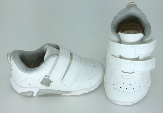 Tenis Kidy Colors Baby Com Velcro Branco 008-0497-0004