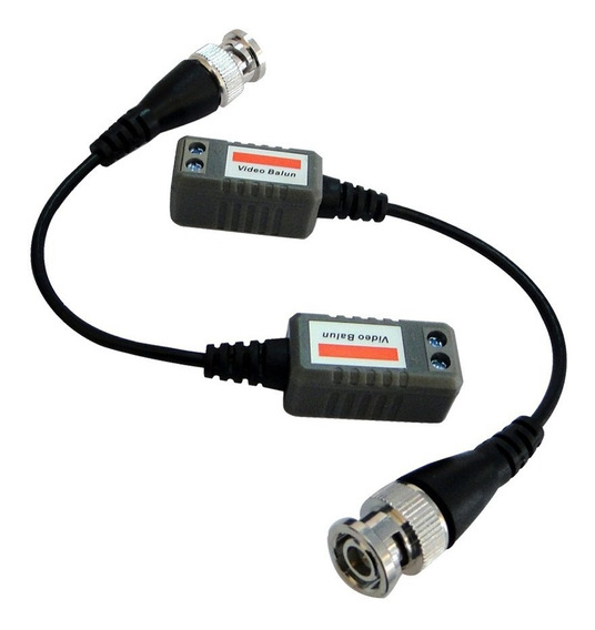 Conversor Par Trançado Video Balun 600mts P/ Cftv