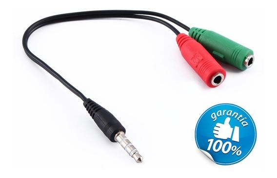 Cabo Adaptador P3 (p2 Combo) Para Fone E Microfone Headset