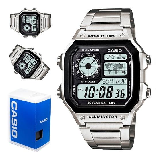 Reloj Casio Hombre Ae-1200whd Alarma Crono Wr 100m Env Grati