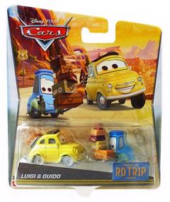 Disney Pixar Cars - Road Trip - Luigi & Guido Com Bagagem