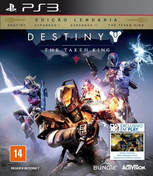 Destiny The Taken King Ed Lendária Ps3 Midia Fisica Novo