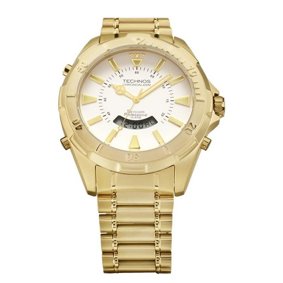 Relógio Technos Dourado T205fl/4b C/ Nf-e