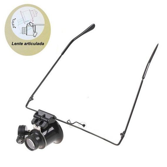 Óculos Lupa De Precisão Com Led Articulável Lente Lee Tools
