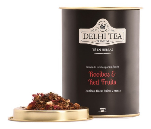 Imagen 1 de 2 de Te Hebras Delhi Tea Premium Lata Rooibos Red Fruits