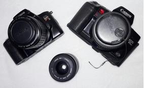 Câmera Canon Analógica - Kit Com 2 Câmeras E 3 Lentes