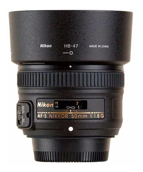 Lente Nikon 50mm F/1.8g Af-s Autofoco Parasol