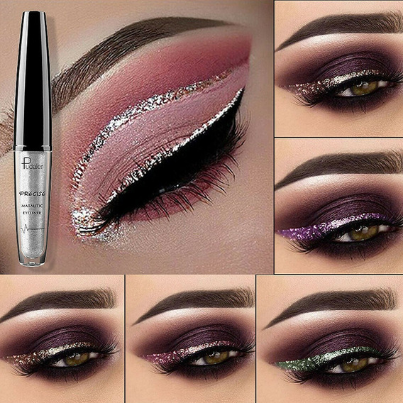 Sombra Delineador Líquido Glitter Impermeável