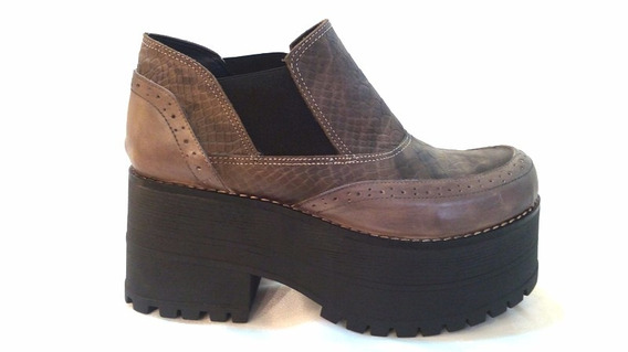 Zapato Cuero Croco Mujer Art Megan. Marca Blood South