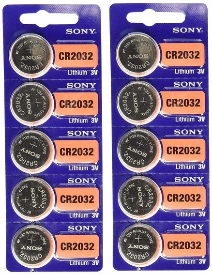 Kit 10 Unidades Baterias Sony Cr 2032 3v Lithium Placa Mae