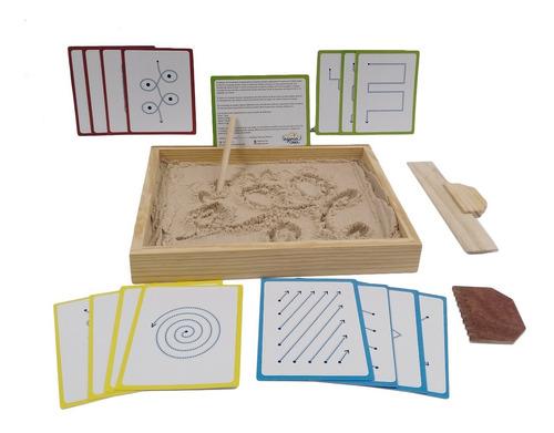 Imagen 1 de 7 de Ingeniacrea Bandeja Grafomotricidad Montessori Gde+tarjetas