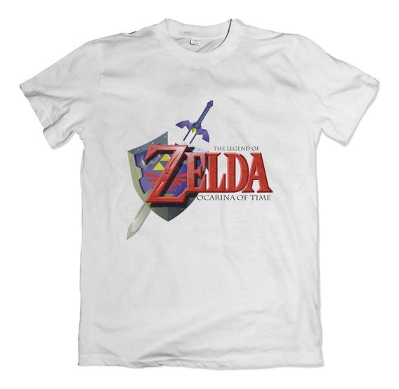 Camiseta Camisa Zelda Ocarina Of Time Nintendo 64 N64