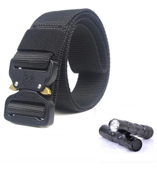 Cinturón Táctico Tipo Asalto Militar Hebilla Metal + Regalos