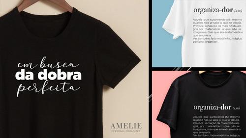 Imagem 1 de 7 de Camiseta Amelie Personal Organizer 100% Algodão Organização