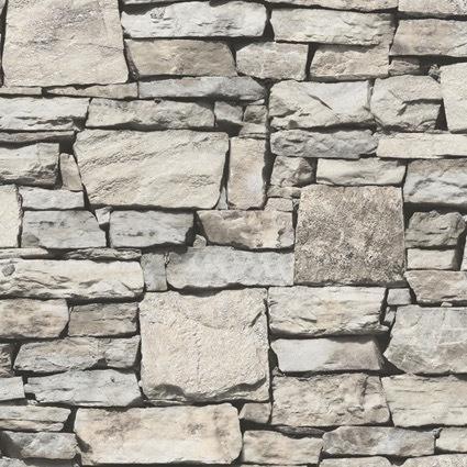 Papel Tapiz Diseño Muro Piedra Laja Aleatorio 16.5m2 Sty M13
