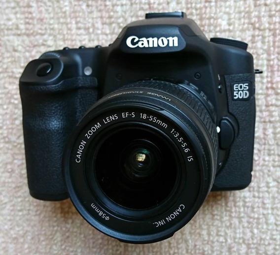 Camera Canon Eos 50d + Lente 18-55mm + Lente 75-300mm