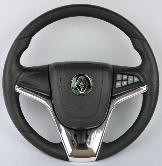 Volante Do Renault Comando Som P/ Clio Logan Sandero Cromado