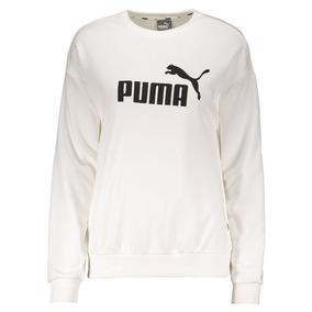 Moletom Puma Logo Crew Sweat Tr Branco